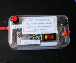 Disposable camera coilgun
