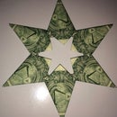 Dollar Bill Origami 5 Or 6 Point Money Star