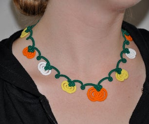 Tatted Pumpkin Patch Necklace