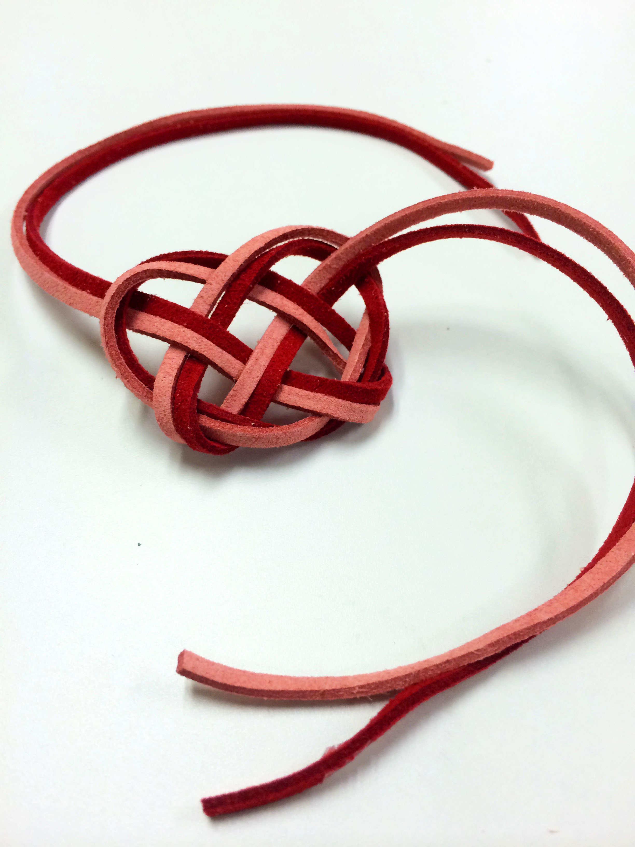 Picture of Leather Celtic Heart Knot