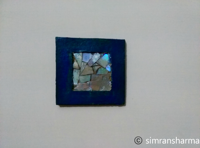 Recycled DVD Mosaic Frame