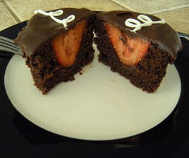 Double Chocolate Strawberry Cupcake with a Cream Cheese Finish