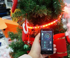 Smart Phone Controlled Christmas Tree with RGB LED Strip