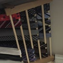 Space Saver Tie Rack