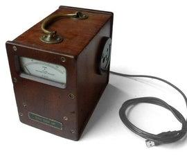 A Steampunk Disk Drive USB Meter
