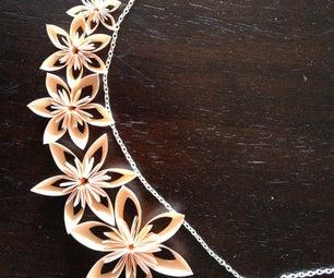 Kusudama Origami Wedding Party Jewelry Set