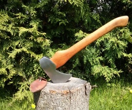 Artisan Axe Created From Discarded Vintage Axe Head