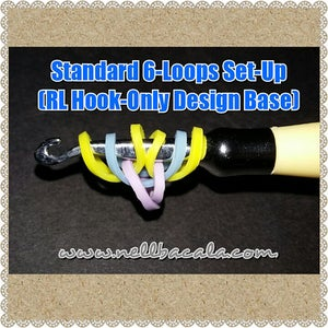 Standard 6 Loop Set Up for Hook Only Rainbow Loom Bracelets