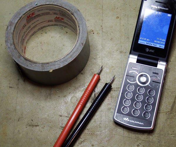 Charge a cell phone battery without the charger