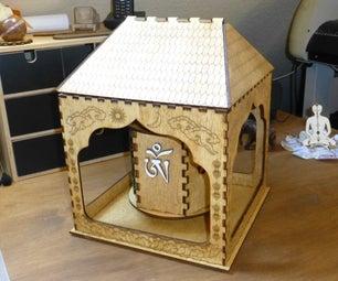 Tibetan Prayer-wheel Made by Plywood