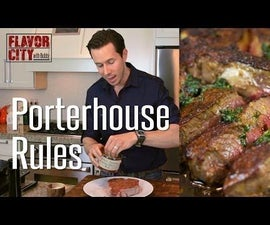 The Ultimate Porterhouse Steak w/ Citrus Herb Butter