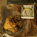 Roasted Cauliflower With Dip