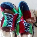 Rainbow Crochet Shoes