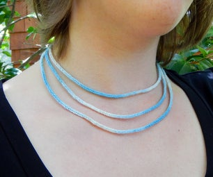 Knit Layered I-Cord Necklace