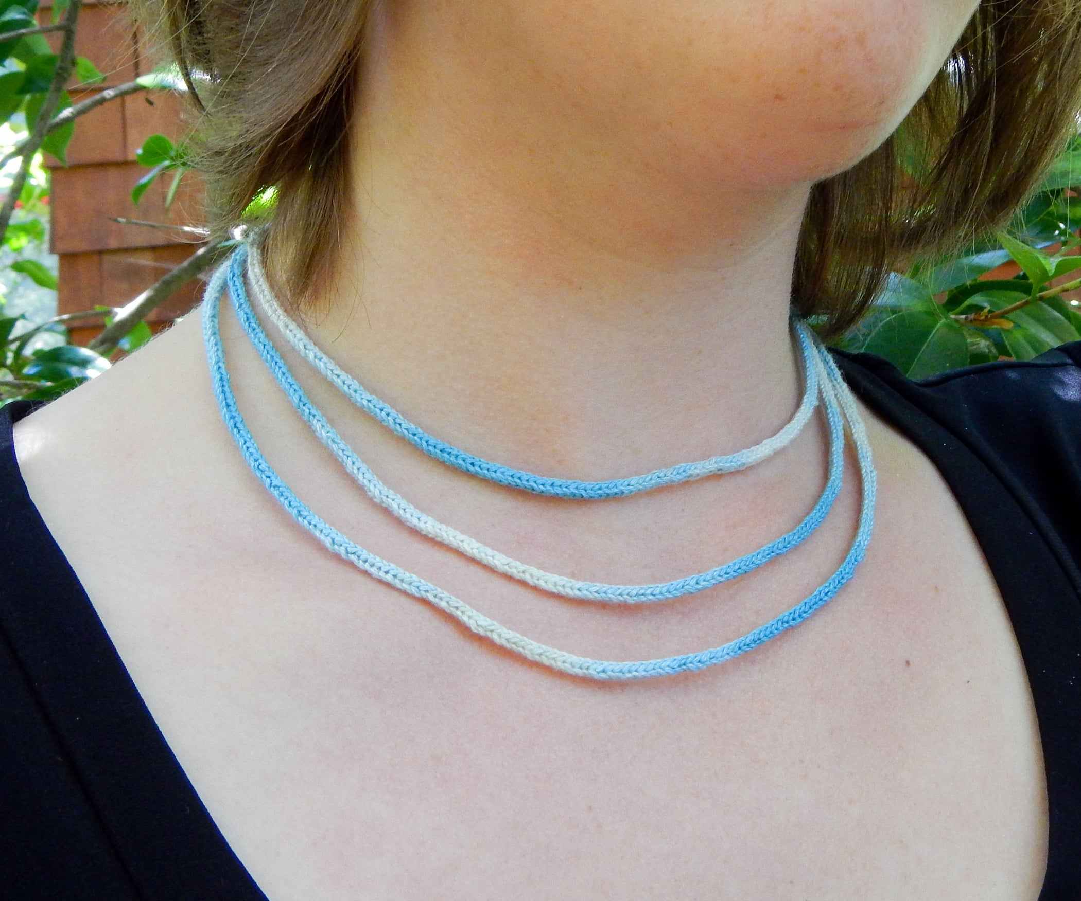 67f8f98fadeb Knit Layered I-Cord Necklace  9 Steps (with Pictures)