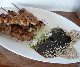 Sea Scallop Satay with Coconut Peanut Sauce