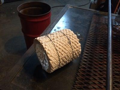 Blowing Glass Bubble Into Ceramic