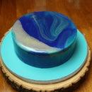 Galaxy Mirror Glaze Cream Cake