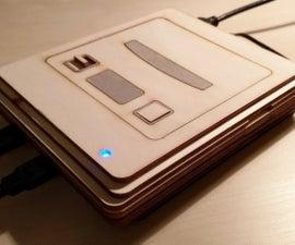 Wooden Super Nintendo Entertainment System (SNES)