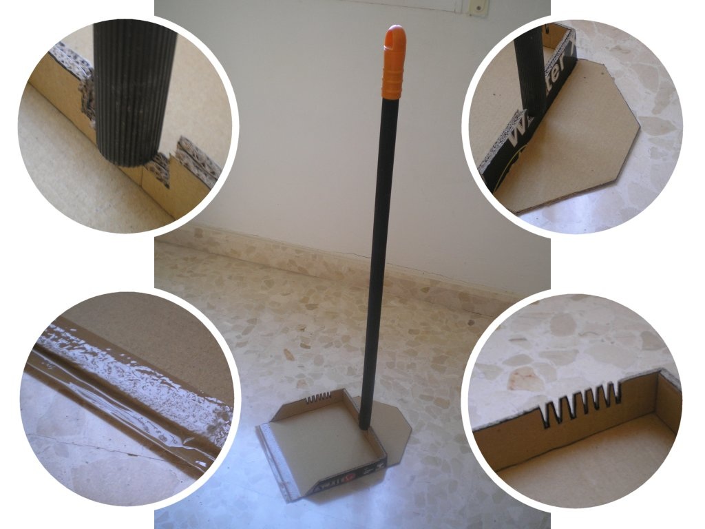 Picture of Emergency Cardboard Dustpan (with 4 Features)