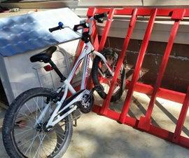 Bike Rack From an Old Door
