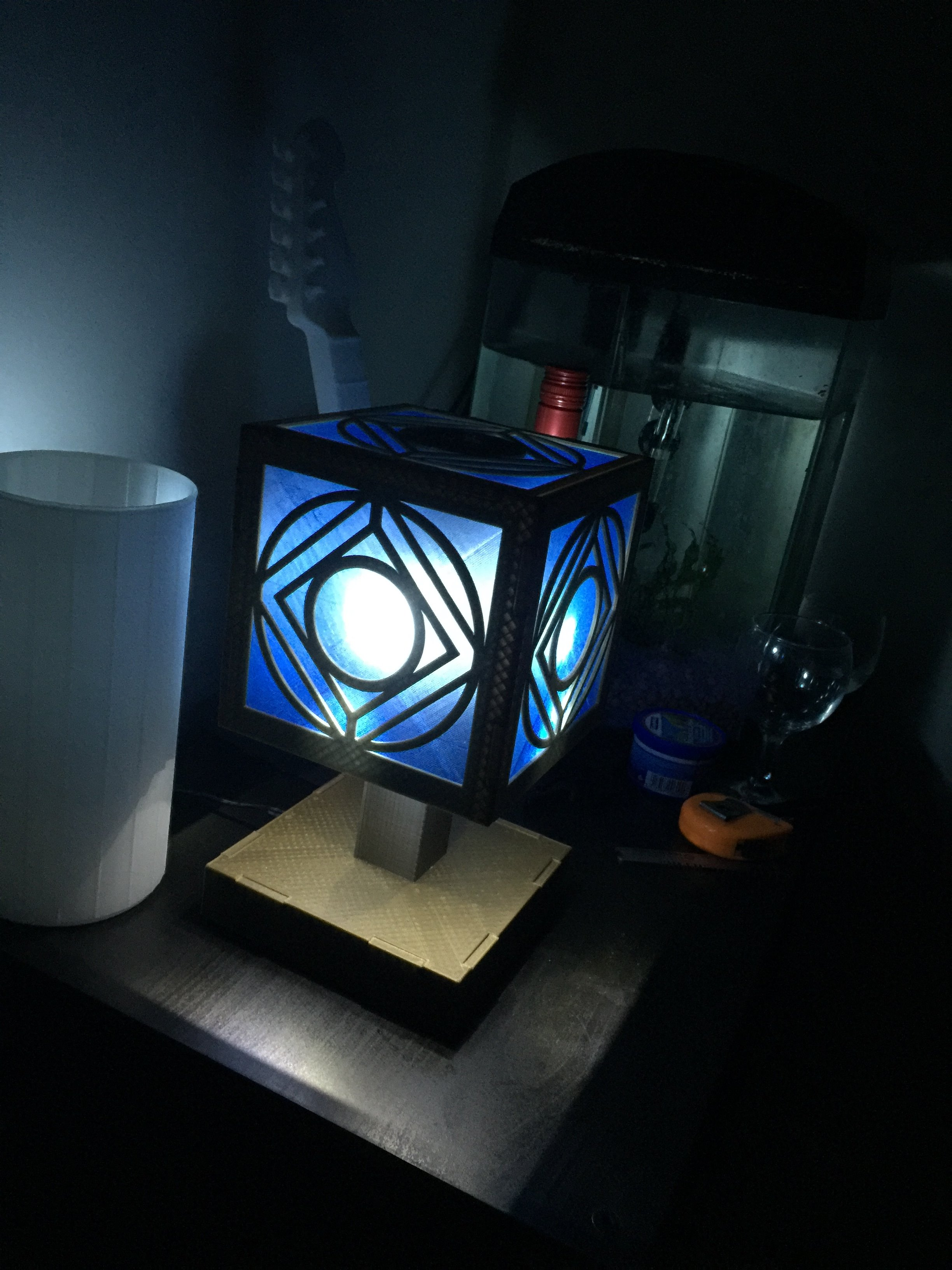 Picture of The Completed Holocron Lamp!