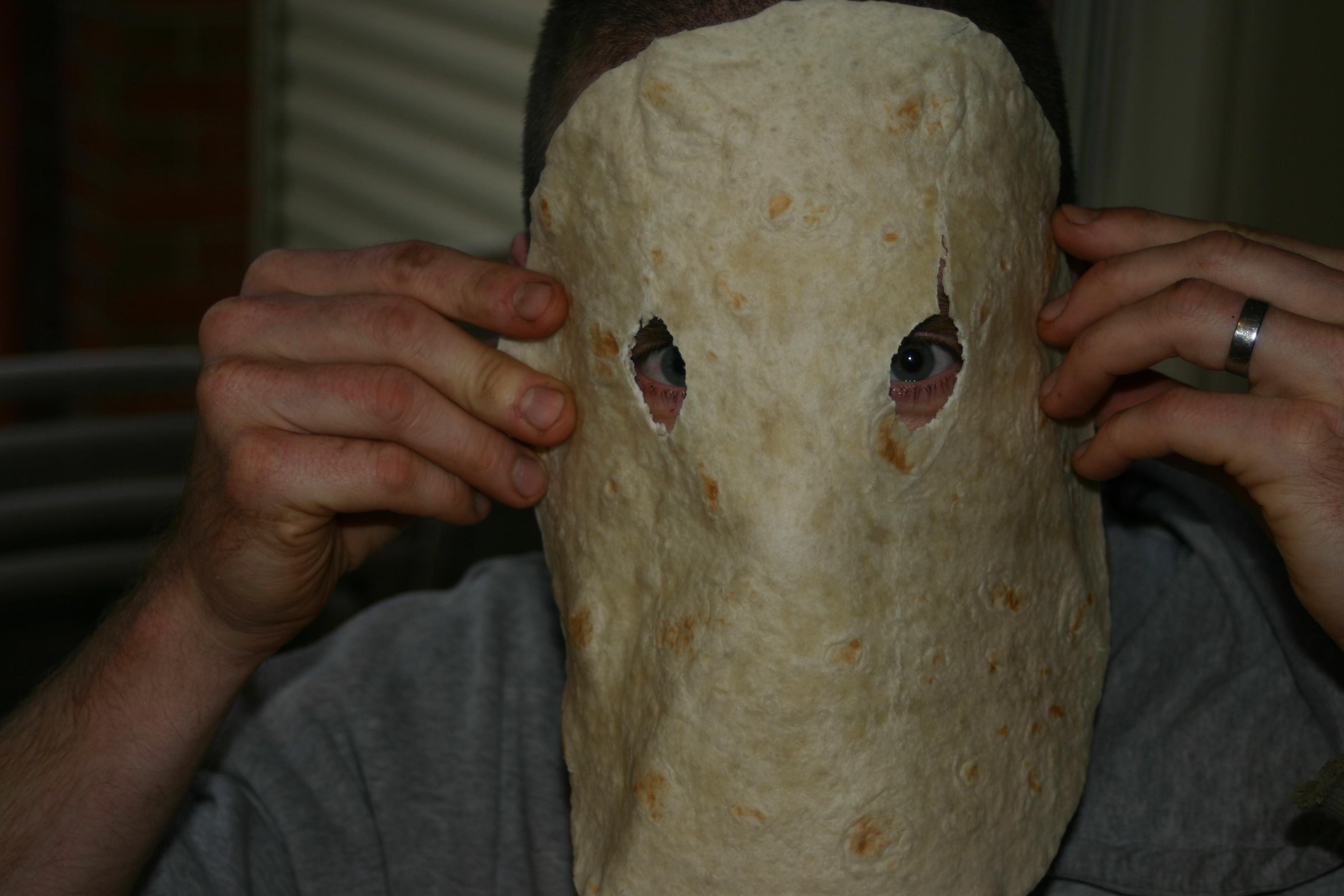 Picture of Bight Out Your Eyes (not Your Eyes, the Holes for Your Eyes in the Tortilla)