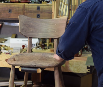 Turn Front Legs and Glue Up Chair