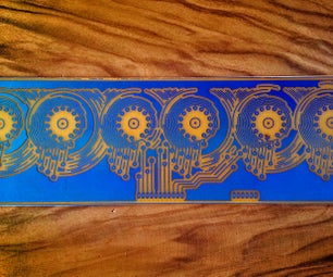PCB Making Using Photoresist Paint and UV