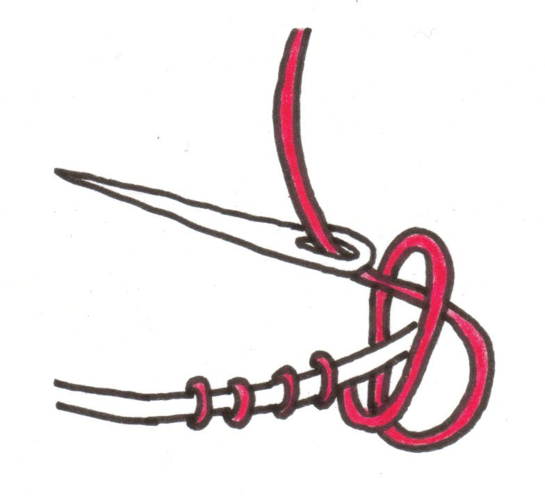 Picture of Finishing Knot.