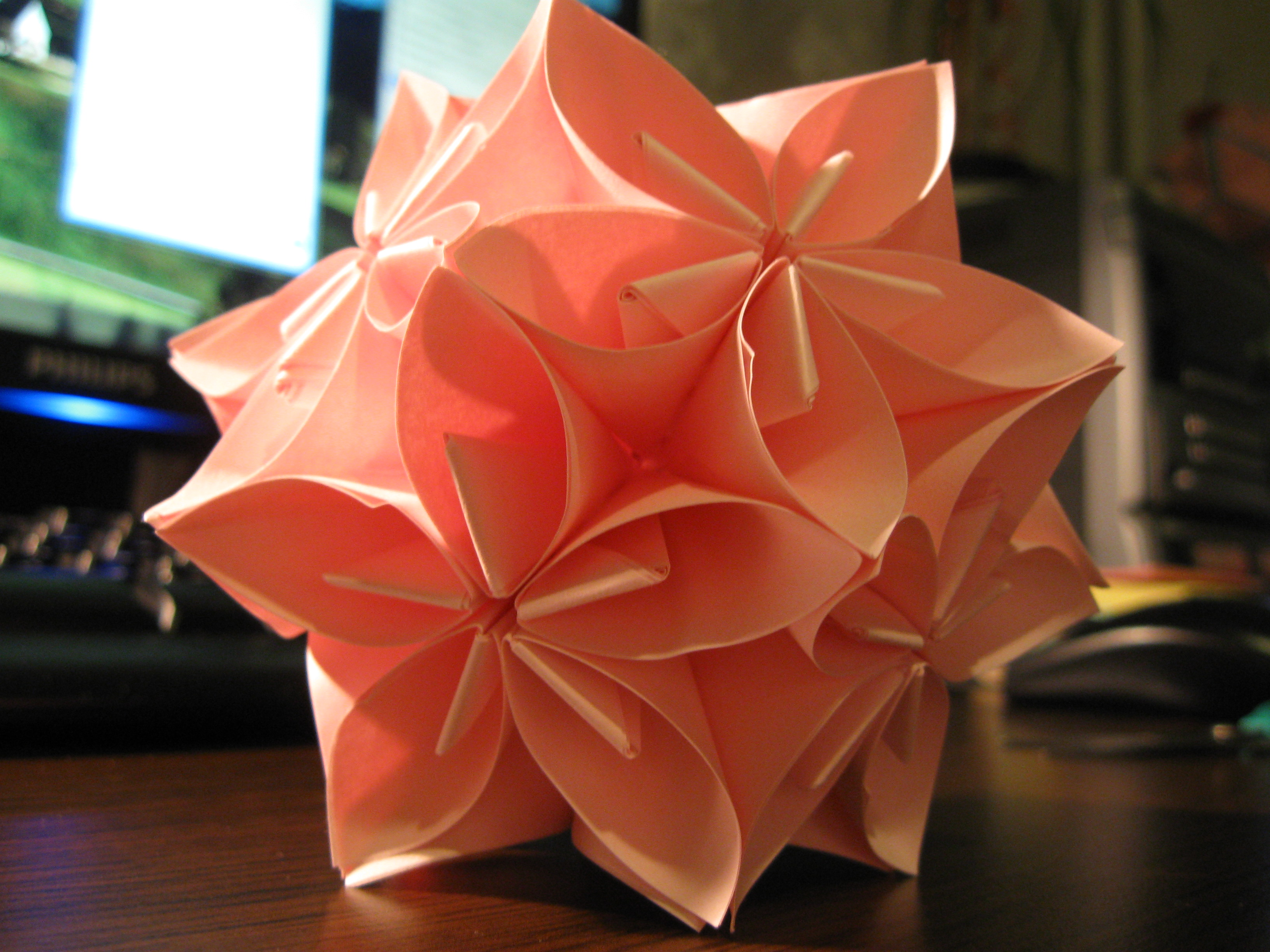 Flower origami ball 5 steps with pictures picture of flower origami ball mightylinksfo