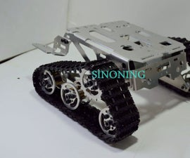 WALL-E Metal robot tank chassis install guide