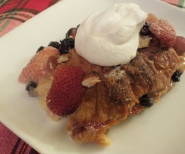 White Chocolate Mallow Berry Bread Pudding