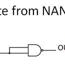 Use NAND gate to make NOT gate