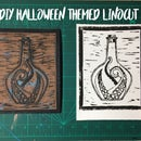 Halloween Themed Linocut