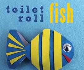 DIY Toilet Roll fish decor.