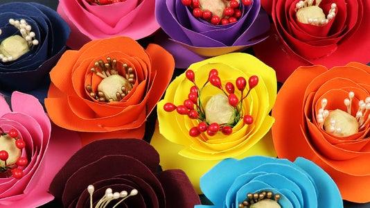 How to Make Mini Paper Roses