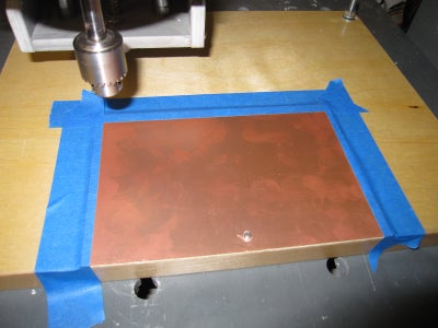 Hold Down Copper Clad Stock on CNC's Spoil Board
