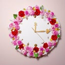 How to Make a Sweet Floral Wall Clock for Your Room Decoration