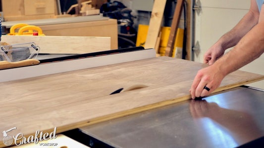 Rip Plywood to Size & Cut Kerfing Cuts