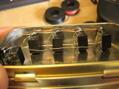Attach Remaining Resistors to Middle Tab (Right Channel)