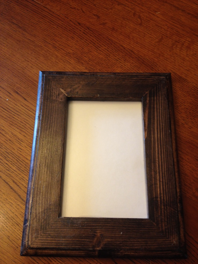 Picture of Hidden Money in Picture Frame