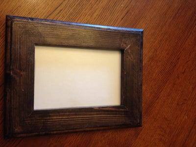 Hidden Money in Picture Frame