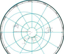 Finding North direction and time by stars