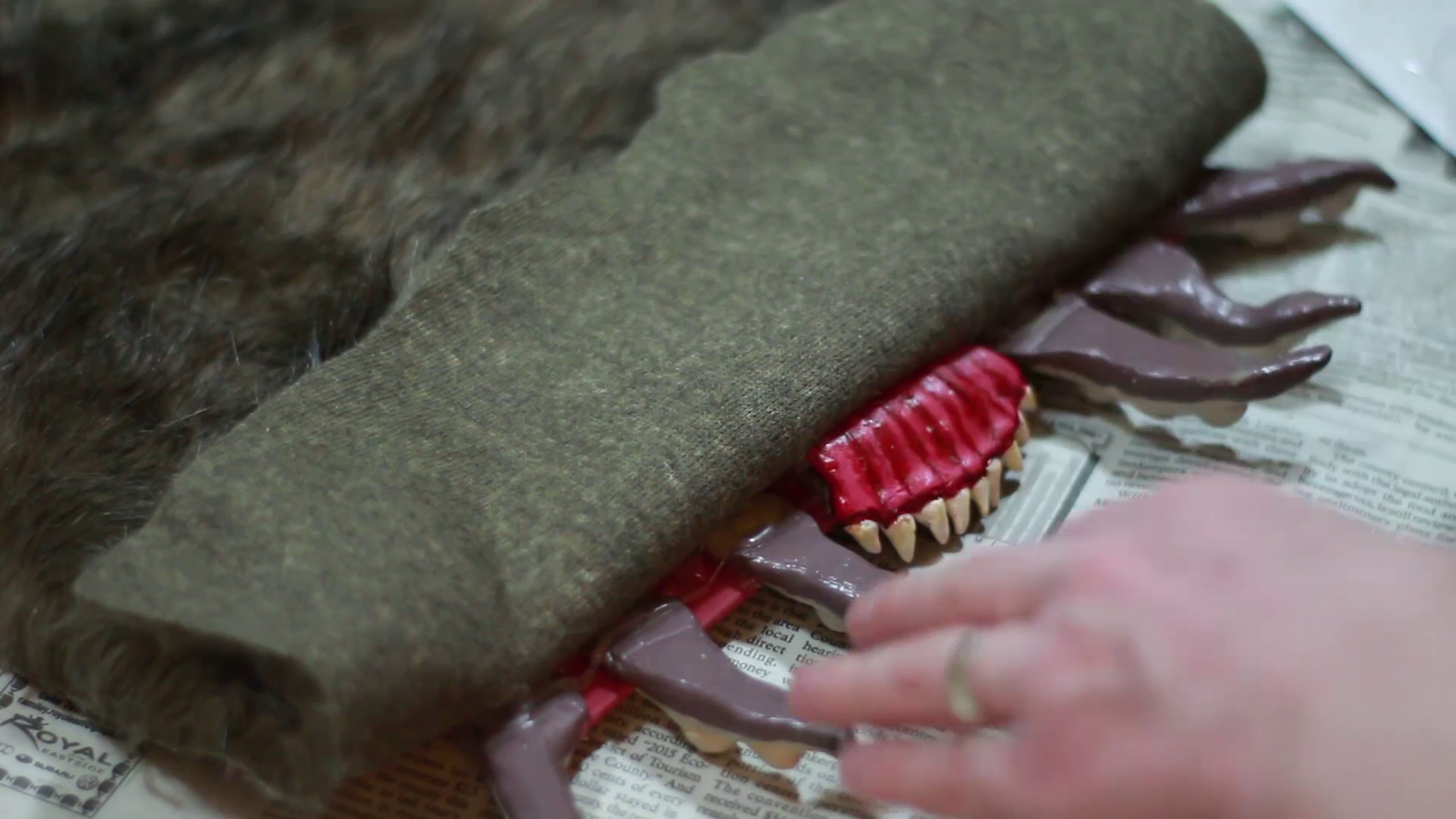 Picture of Binding the Cover in Fur