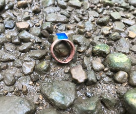 Copper Crystal Ring