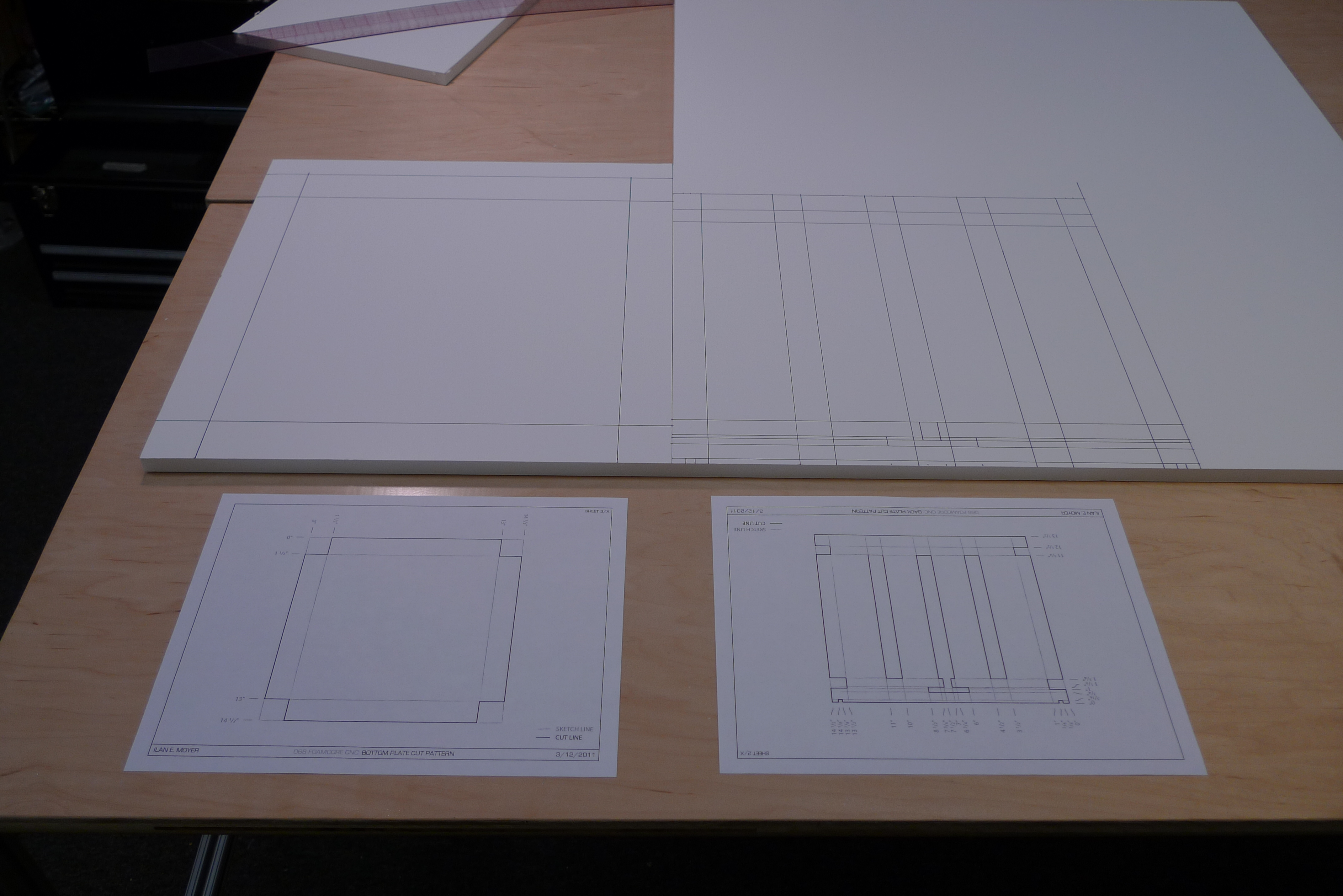 Picture of Lay Out the Back and Bottom Plates