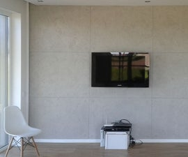 DIY CONCRETE TV WALL
