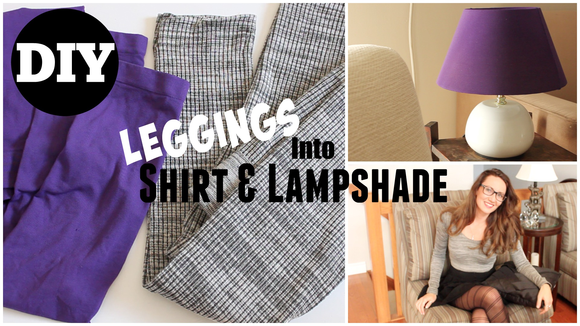 Picture of Shirt and Lampshade Out of OLD Leggings