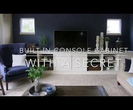 Built-in Console Cabinet With a Secret Hidden Compartment